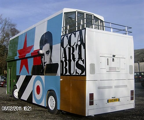 This former Liverpool bus was converted to a mobile art gallery!
